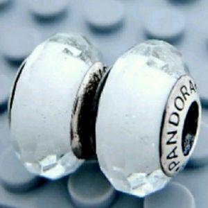 Pandora pair of white fascinating Muranos.